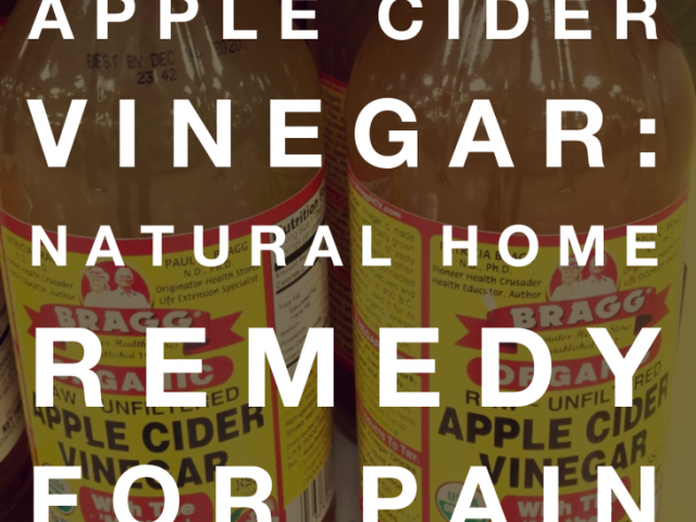 Apple Cider Vinegar: Natural Home Remedy for Pain